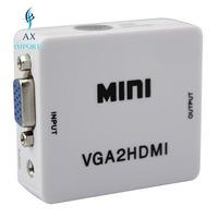 Mini Conversor Vga Para Hdmi Com Áudio - Hd 1080 Com Fonte