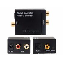 Conversor Audio Optic Digital Fibra/coaxial P/ Rca Analogico