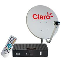 Kit De Antena Parabolica 60cm + Receptor Digital Claro Tv