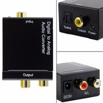 Conversor Ótico E Coaxial Digital P Rca Analógico +cabo