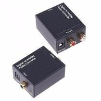 Conversor Óptico Digital Para Analógico Toslink Coaxial R/l