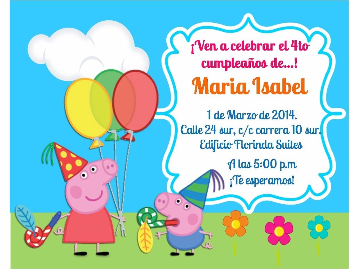 Convite Ingresso Peppa Pig E George Pig Frete Grátis - R$ 34,00 no MercadoLivre