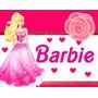 Convites Barbie + Desenha Convites + Aniversários + #01