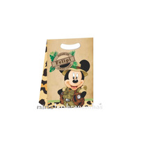 25 Sacola Mickey Safari Qualquer Tema,sacola Personalizada