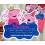 Convite Peppa Pig Personalizado Envelope E Tag 30 Unidades