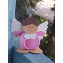Kit 10 Lembrancinhas Bebê Aniversario Anjinho Bombom Eva