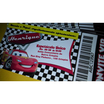 Convites Tipo Ingresso - 50 Unidades - Carros