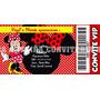 Convites Tipo Ingresso - Minnie Vermelha - 10 Unidades