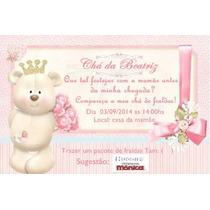 100 Convite Chá De Fraldas Ou De Bebê