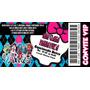 Monster High - Convite Tipo Ingresso - 50 Unidades