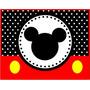 Kit Festa Provençal Mickey Mouse Arte Cartões Convites