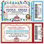 Circo - Convites Tipo Ingresso - 50 Unidades