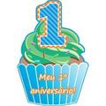 Kit Com 40 Convites De Aniversário De 1º Aninho Menino Bolo