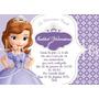 Princesa Sofia - Convites 7x10cm - 40 Unidades