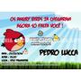 Angry Birds - Convites 7x10cm - 40 Unidades