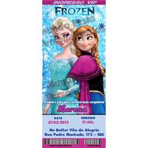 30 Convite Ingresso Frozen Galinha Peppa Patati Aniversário