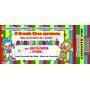 50 Convite Ingresso Patati Circo Carros Aniversário