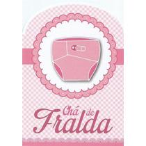 Convite Chá De Fralda Rosa Menina - Com 40 Unidades