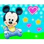 Kit Festa Provençal Mickey Baby Arte Cartões Convites