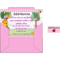 48 Convites Personalizados, Com Envelopes E Etiquetas