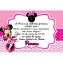Convite Infantil Minnie 40 Unidades