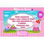 50 Convites Aniversário Personalizado Peppa Pig - Promoção