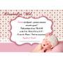 20 Convites Chá De Bebê Menina Frete Grátis