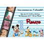 50 Convite 10x15 Mickey Minnie Aniversário Personalizado