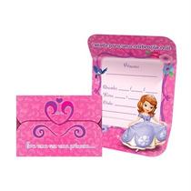 Convite De Aniversário Princesa Sofia - 8 Unidades