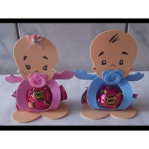 Kit 10 Lembrancinhas Chá De Bebê Nascimento Porta Bombom Eva
