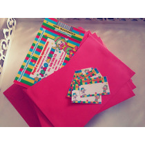30 Convite Infantil Ingresso Circo Patati Patatá C/ Envelope