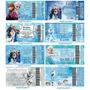 Convite Infantil Frozen Ingresso Vip +envelope+adesivo X50