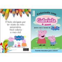 Revistinha Revista Colorir Kit 10 Unidades + Giz De Cera