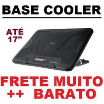 Base C/ Cooler Para Notebook Até 17 Polegada Ergonômica