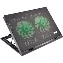 Cooler Para Notebook Warrior Power Gamer Led Verde Luminoso