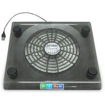 Base Para Notebook Com Cooler Neon Azul Para 12 A 15