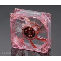 Cooler Fan 80mm Vermelho Akasa Ak170cb-4rds 88