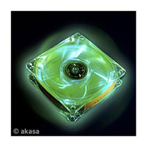 Cooler Fan Akasa Crystal C/ 4 Led´s - Verde 12x12 Cm