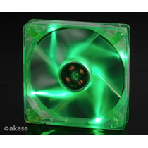 Cooler Fan 120mm Akasa Led Verde Ak174cg-4gns