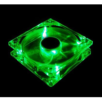 Cooler Fan Led Verde 12cm 120x120x25 120mm Green Led