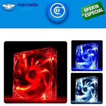 Cooler / Ventilador 120mm Vermelho, Azul Ou Transparente.