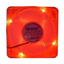 Fan Led Akasa 120mm Casefan Cooler Ak174cr-4rds Vermelho