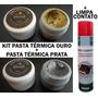 Kit Pasta Térmica Ouro + Pasta Térmica Prata + Limpa Cotato