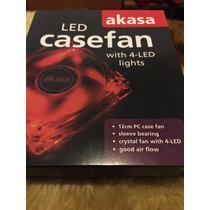 Cooler Gabinete Led Vermelho Casefan Akasa (4 Leds)