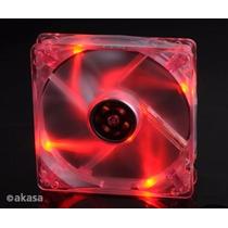Cooler Fan 120mm Akasa Led Vermelho Ak174cr-4rds
