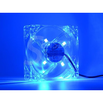 Cooler Fan Com Led Azul 80mm 80 X 80 X 25mm