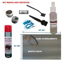 Kit Manta Esd P. Térmica Prata, Alcool, Pulseira, Pincel 9x1