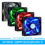 Kit 4 Un Fan Cooler Master Sickleflow X 120mm 4 Opções Cores