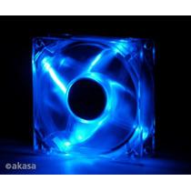 Cooler Fan 80mm Akasa Leds Azul Ak170cb-4bls 3/4 Pinos