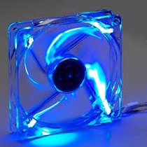 Cooler Fan Ventoinha De Gabinete 80mm 12v Com Led Azul.